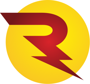 Reddy Electrical Solutions icon: R in shape of a lighting bolt in a yellow circle.